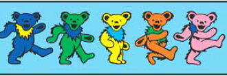 Grateful Dead  Dancing Bear - Shoelaces