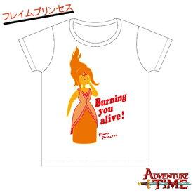 10/19 エントリーで2倍 Tシャツ レディース(M) フレイムプリンセス(ホワイト)/アドベンチャータイム Adventure Time