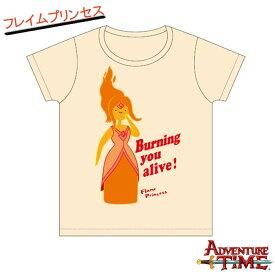 10/19 エントリーで2倍 Tシャツ レディース(M) フレイムプリンセス(ナチュラル)/アドベンチャータイム Adventure Time