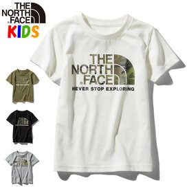 【キャッシュレス+5%還元】ノースフェイス キッズ【100-150cm】カモロゴTシャツ【2020春夏モデル】 North Face Camo Logo Tee