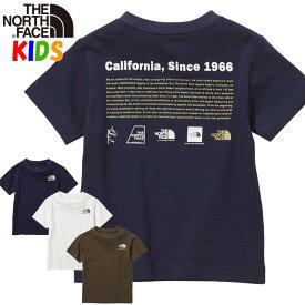 ノースフェイス キッズTシャツ ヒストリカルロゴ【100-150cm】North Face 男の子女の子おしゃれアウトドアブランド Historical Logo T-Shirt