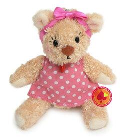 ドレッシー・ジェシー ボールチェーン付きマスコット(水玉ドレス ピンク)/Suzy's Zoo(スージーズー)