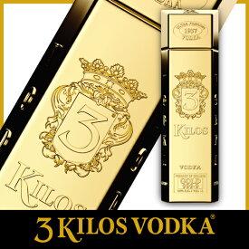 \日本初上陸!/酒 ウォッカ 金塊 ゴージャス プレゼント パーティ 3Kilos Vodka Gold 999.9 (スリーキロスウォッカ)インパクト ギフト クリスマス 大晦日 年越し
