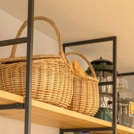 ウィッカーバスケット カゴバッグ 雑貨 バッグ インテリア 収納 柳 ハンドル 蓋つき 丸 オーバル ピクニック