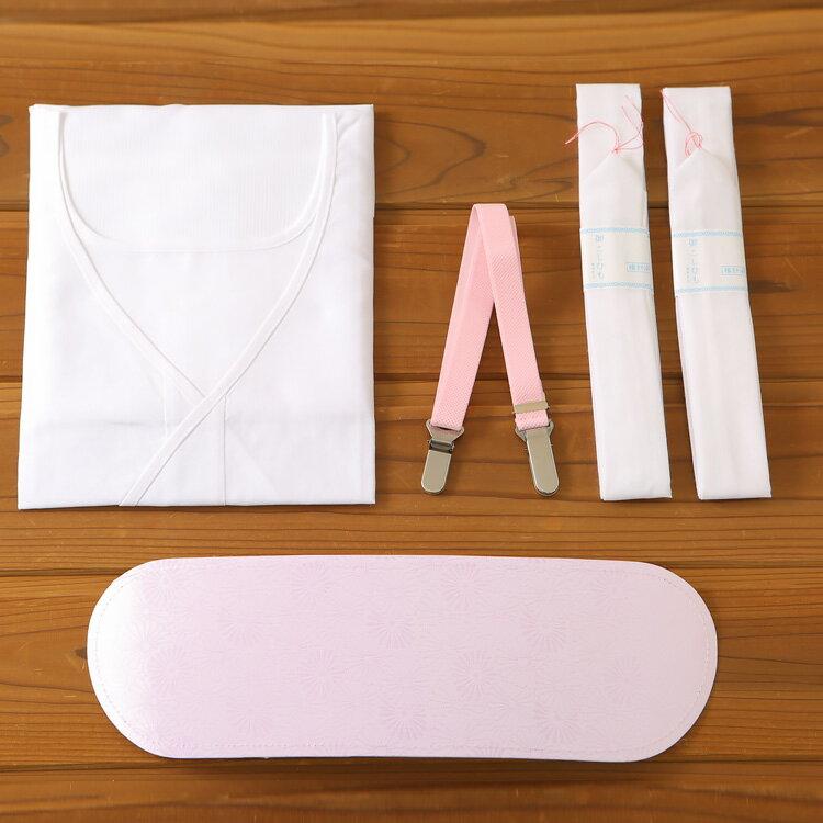 浴衣を着るなら一緒に買っておくと便利です*◆定番売れ筋◆【簡単♪ゆかた着付け小物5点セット】 ワンピースタイプの肌着で楽チン♪