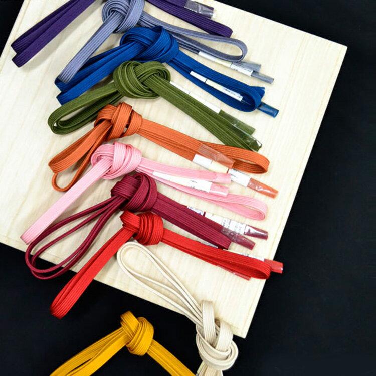 待望の選べる全10色!着物を引き締めて、際立てる。【正絹 三分紐 帯締め 】おびじめ 帯〆 シンプル 無地 プレーン 和装 着物 きもの 帯 名古屋帯 お太鼓帯 京袋帯