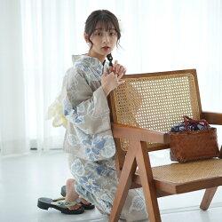 浴衣専門店/浴衣/レディース/セット/ゆかた/ユカタ/yukata/ニコアンティーク/にこあんてぃーく/NIco/Antique/女性/浴衣/高級変わり織り浴衣3点セット/レトロ/モダン