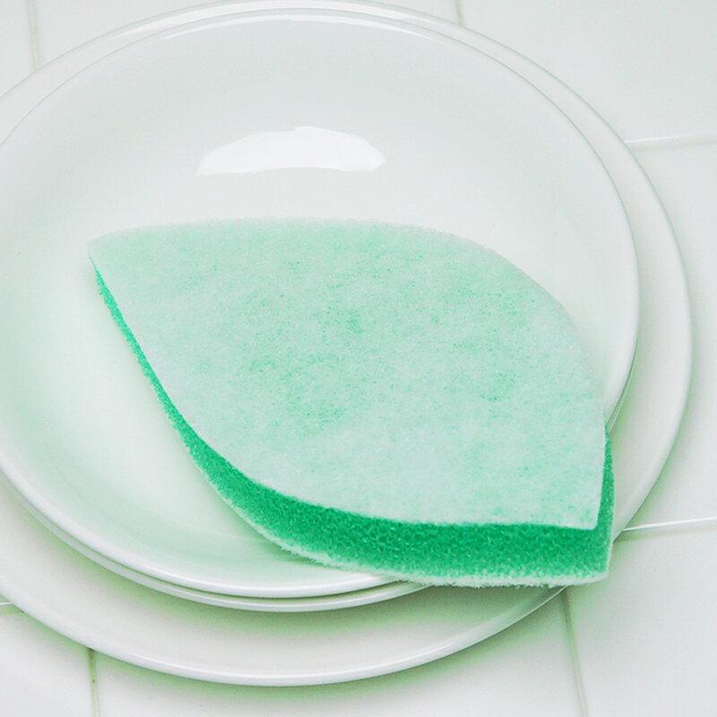 がんこ本舗 森と…暮らす 葉っぱの形のスポンジ(キッチン食器洗いスポンジ)