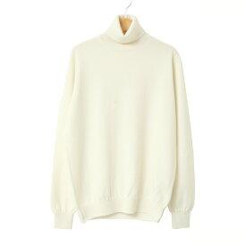【UTO メンズ アウトレット 40%OFF】タートル ネック セーター オフ ホワイト 白 S サイズ 最高級 カシミヤ カシミア 100% メンズ 日本製