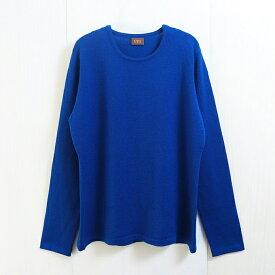 【UTO レディース 最高級カシミア カシミヤ100% 日本製】クルーネック ウエストシェイプ プルオーバー 袋編みタイプ カラー20色