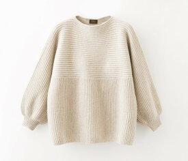 【UTO レディース カシミヤ100% 日本製】最高等級 カシミヤ 畦編み チュニック