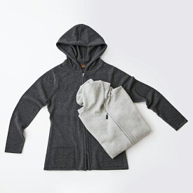【UTO レディース 最高級カシミア カシミヤ100% 日本製】袋編みパーカー カラー20色