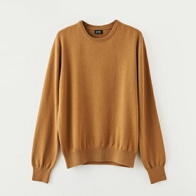 【UTO メンズ 最高級カシミア カシミヤ100% 日本製】クルーネック セーター カラー24色