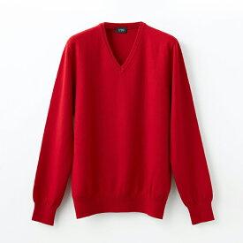 【UTO メンズ 最高級カシミア カシミヤ100% 日本製】Vネック(深)セーター カラー24色