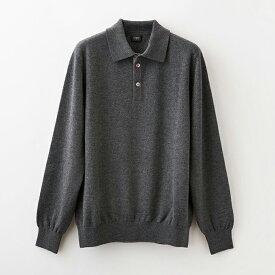 【UTO メンズ 最高級カシミア カシミヤ100% 日本製】ポロ衿 セーター カラー24色