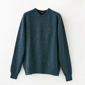 【UTO メンズ 最高級カシミア カシミヤ100% 日本製】四つ杢 クルーネック セーター カラー3色
