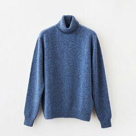 【 UTO メンズ 】四つ杢 タートルネック セーター カラー 2色 最高級カシミア カシミヤ100% 日本製