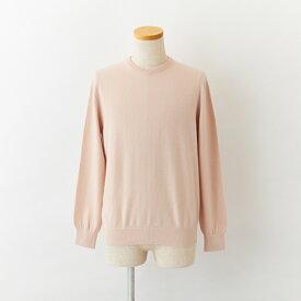【UTO メンズ アウトレット 40%OFF】最高級 カシミヤ カシミア 100% 日本製 クルーネック セーター アイスピンク M サイズ