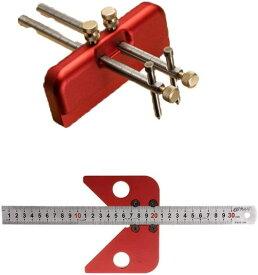 【即納・全国送料無料】 t型スコヤ定規ゲージ 木工ケガキ 線引き 2点セット