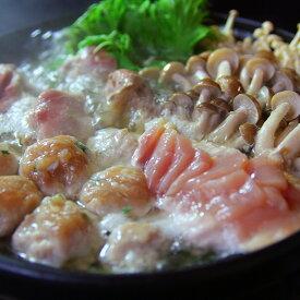 【キャッシュレス5%還元対象】【送料込】会津地鶏水炊きセット(山椒ぽん酢付き)