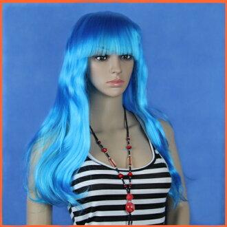 假髮長胡波生動顏色的頭髮人妖女人假髮化裝服裝偽裝舞會