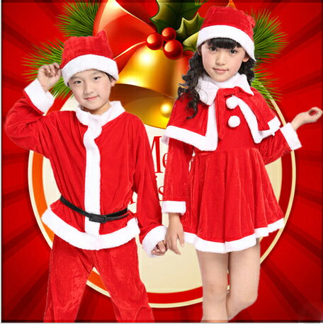 サンタ コスチューム キッズ 子供用 サンタ コスチューム クリスマス衣装 子供用サンタクロース衣装 子供用サンタ衣装 コスプレ コ スチューム 仮装