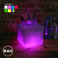光るワインクーラースクエア型電池型