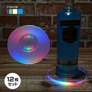 LED光るボトルコースター(透明)13cm