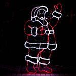 モチーフライトサンタクロース91cm×845cmサンタがやって来たオーナメントモチーフライト2D/LED/電飾/イルミネーション/クリスマス/Christmas/飾り付け/装飾