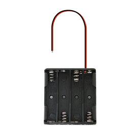 電池ボックス 単4電池 4本用 出力 6V 導線タイプ 自作 DIY 工作 電池ケース BOX