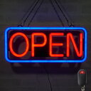 LED ネオン看板 ネオンサイン OPEN 置き/吊り下げ両用 W54×H23.5cm コンセント式 店舗用 おしゃれ オープン 営業中 …