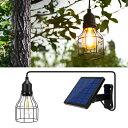 ソーラー イルミネーション ガーデンライト 電球色 吊り下げ 屋外用 防水 ペンダント ランプ ランタン 大型ソーラーパ…