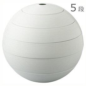 有田焼 李荘窯 珠型五段重 白磁千段