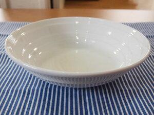 【丼】うずしお《白 大》 麺鉢・冷麺丼・ざるそば・冷やし中華皿【アウトレット込み】【カフェ】【和食器】【陶器】