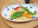 【和食器】藍つづり 楕円大鉢【オーバル】【軽量】【ボウル】【パスタ】【カレー皿】【染付け】【陶器】