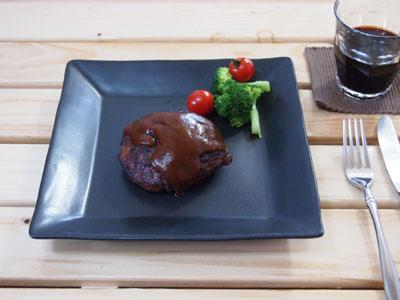 【マット】黒マット スクエアプレート大【角皿】【陶器】