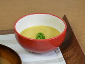 【赤い食器】コロール・レッド 12.5cm丸ボール【中ボウル】【サラダボウル】【スープボウル】【カフェ】