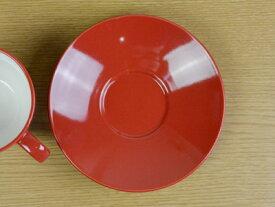 【赤い食器】コロール・レッド 兼用ソーサー【受皿】【スペインバル】【カフェ】