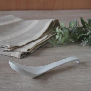 ロングチャーハンレンゲ(強化磁器)白 業務用 れんげ ラーメン オシャレ おしゃれ 磁器 らーめん 中華 スープ 安い おうち時間 すくいやすい