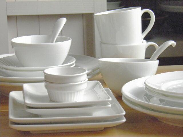 【送料無料】白い食器のスターターペアセット(20ピース)【アウトレット】