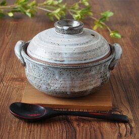 土鍋 5号 雑炊鍋 グレー 流し 土鍋 深型 深鍋 かっこいい おしゃれ 一人用 ぞうすい ぞうすい鍋