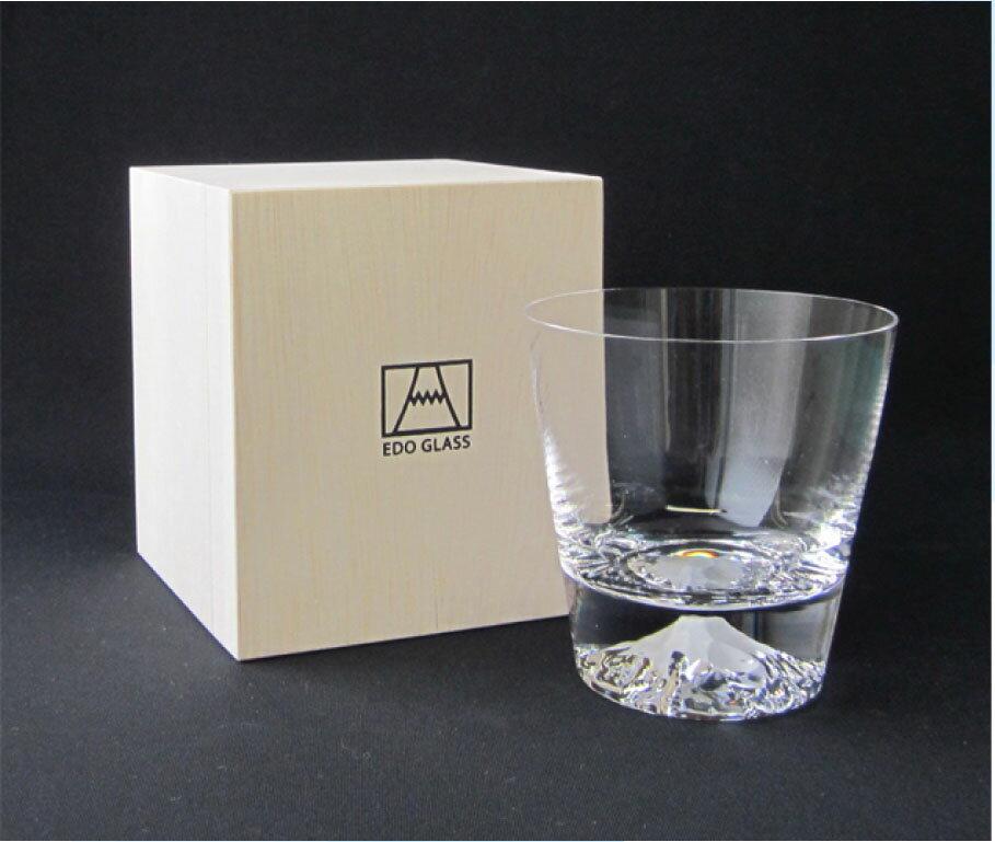 富士山グラス ロックグラス[田島硝子][江戸硝子][日本製][父の日][富士山ロック]/記念品/お祝い/送料無料