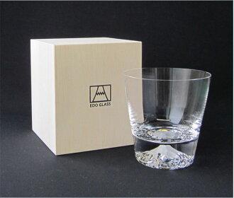富士山玻璃杯锁头玻璃杯[田岛玻璃][江户玻璃][日本制造][父亲节][富士山锁头]/纪念品/祝贺/