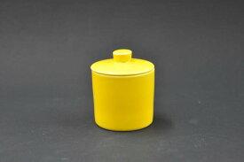 日常使いを提案するテーブルウェアシリーズCommon 波佐見焼食洗機・電子レンジOK!シュガーポット[100ml]イエロー[コモン][カフェ風][砂糖][シュガー入れ][蓋物][ミニ][ふたもの][珍味][陶器]