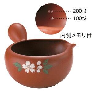 常滑焼 急須 0-110 玉光 朱泥桜横手 湯冷まし 280ml 美味しいお茶のひと工夫 日本製 箱入り T1643