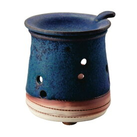 常滑焼 急須 1-221 山田 青色 茶香炉 香炉 アロマ 茶葉 日本製 箱入り T1928