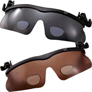 老眼鏡付き偏光サングラス(2色組) シニアグラス リーディンググラス父の日 敬老の日 ギフト 送料無料 偏光 偏光サングラス 眩しさ軽減 眩しさ抑える 老眼鏡 帽子ツバに付ける 跳ね上げ