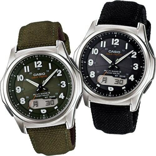 カシオ 電波ソーラー腕時計 マルチバンド6(ミリタリー調モデル)【ソーラー電波腕時計 ソーラー電波時計 メンズ】【WVA-M630B-1AJF WVA-M630B-3AJF】【送料無料】