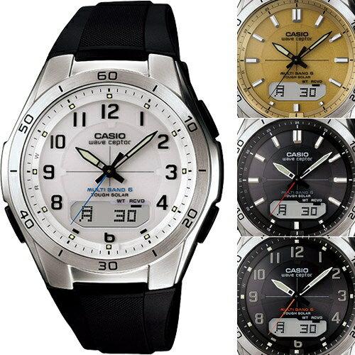 カシオ 電波ソーラー腕時計マルチバンド6(M640)ラバーベルト 【送料無料】