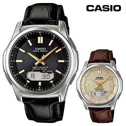 カシオ電波ソーラーウォッチ(レザーバンド)【ソーラー電波腕時計電波ソーラー腕時計革ベルトWVA-M630L-】